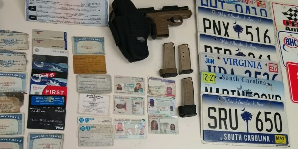 Darlington County deputy finds stolen gun, IDs, birth certificates during traffic stop