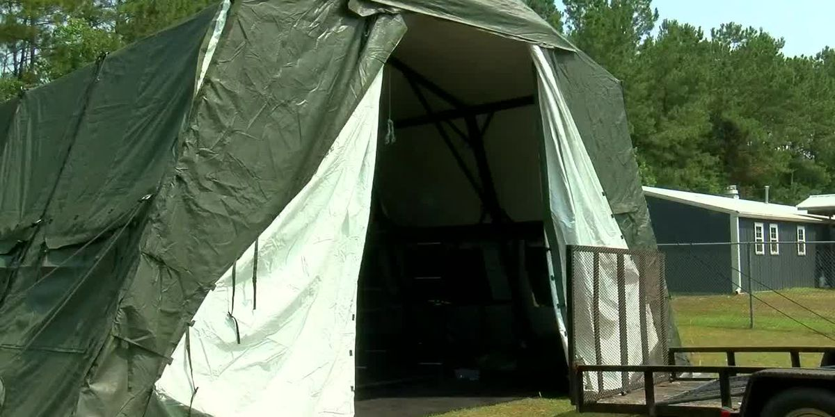 Horry County Animal Care Center adds tent, AC unit after facility fills up