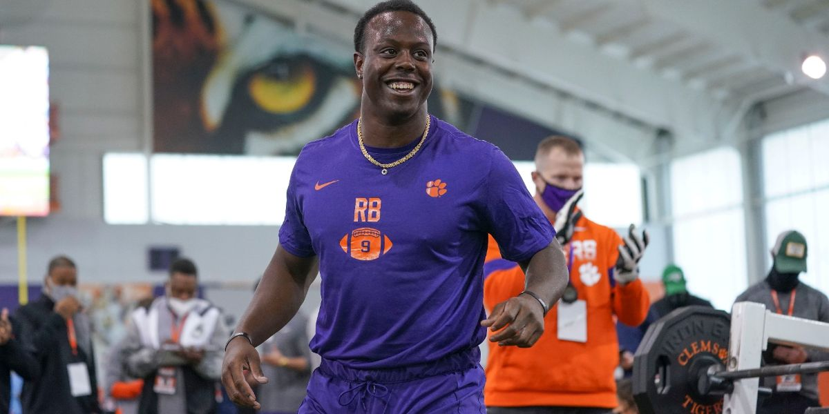 Etienne cements NFL Draft stock with impressive pro day