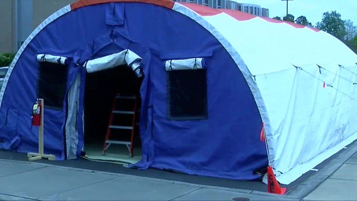 Conway Medical Center adds triage tents outside ER for screening purposes
