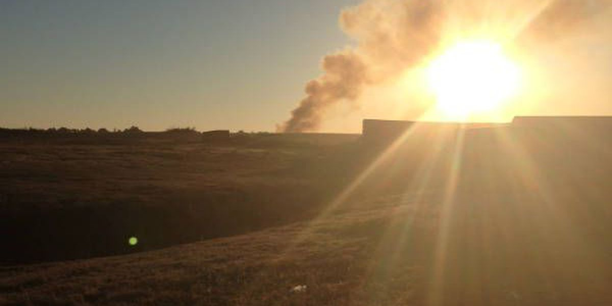 Firefighters battle landfill fire in Darlington County