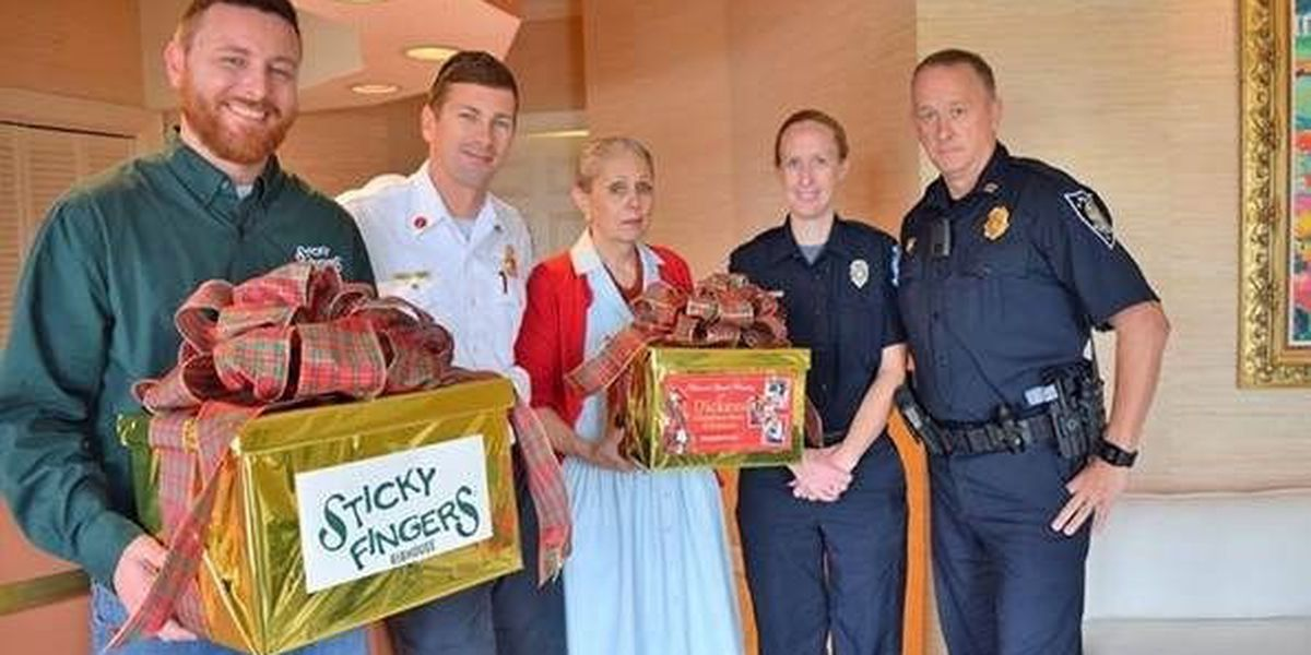 Myrtle Beach Police and Fire get 'Christmas in July' donations for 'Shop with a Hero' program
