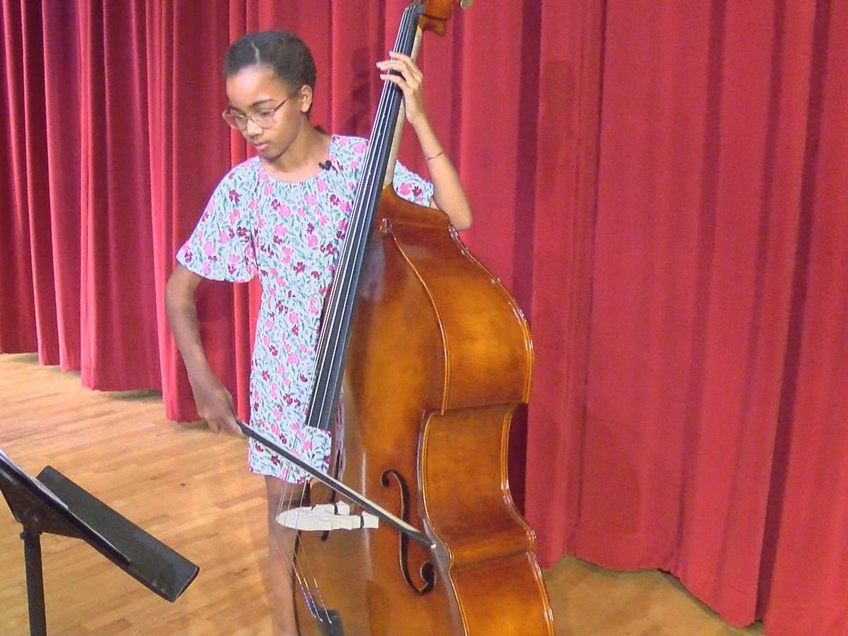 Student Spotlight: 11-year-old expands musical talent to play upright bass