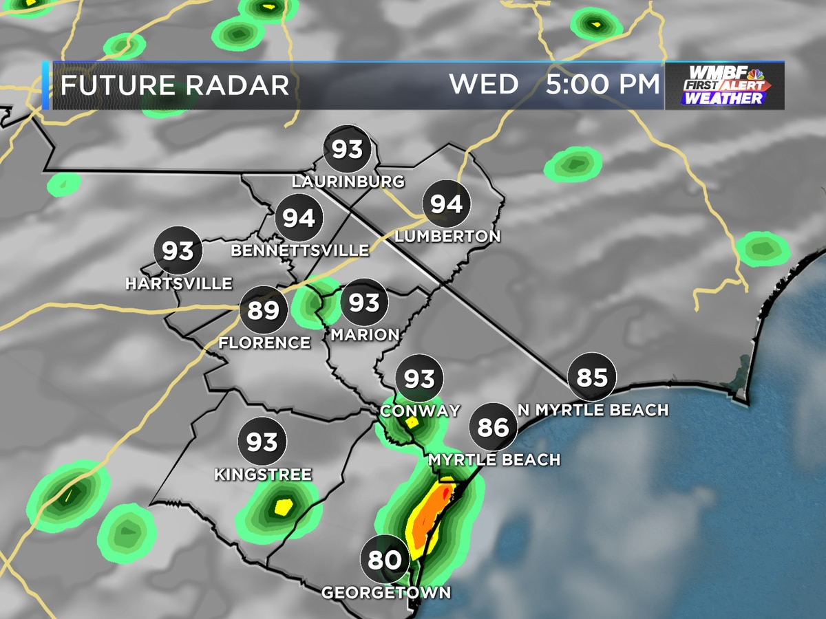 First Alert: Scattered storms and humidity continues through Thursday