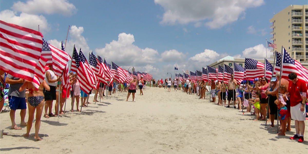 North Myrtle Beach Celebrates July 4th With The American Pride March And Salute From S