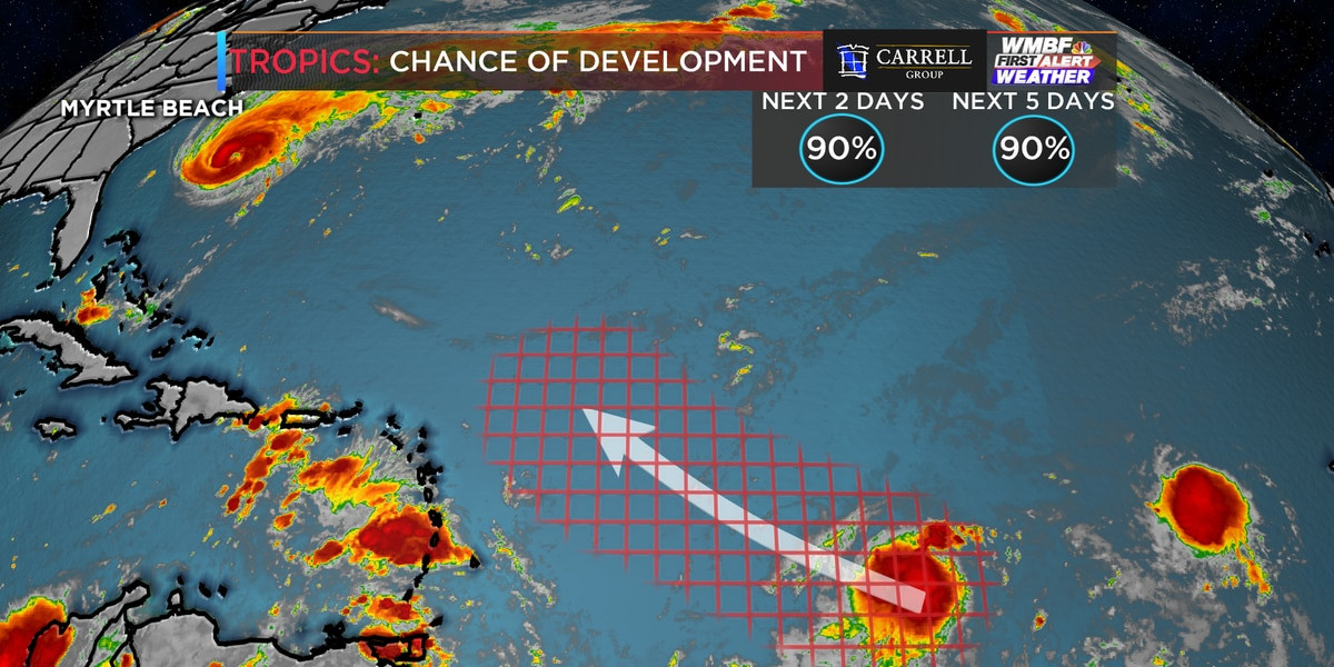 First Alert: High chance of development in the Atlantic over the next two days