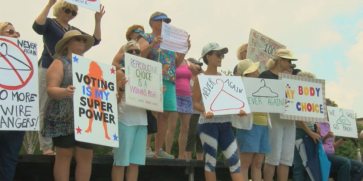 "Dozens gather for ""Stop the Bans"" rally in Myrtle Beach"