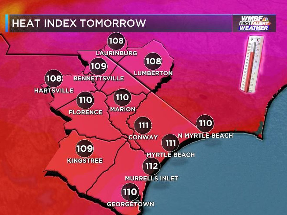 FIRST ALERT: EXCESSIVE HEAT WATCH issued for Saturday as heat index climbs over 110