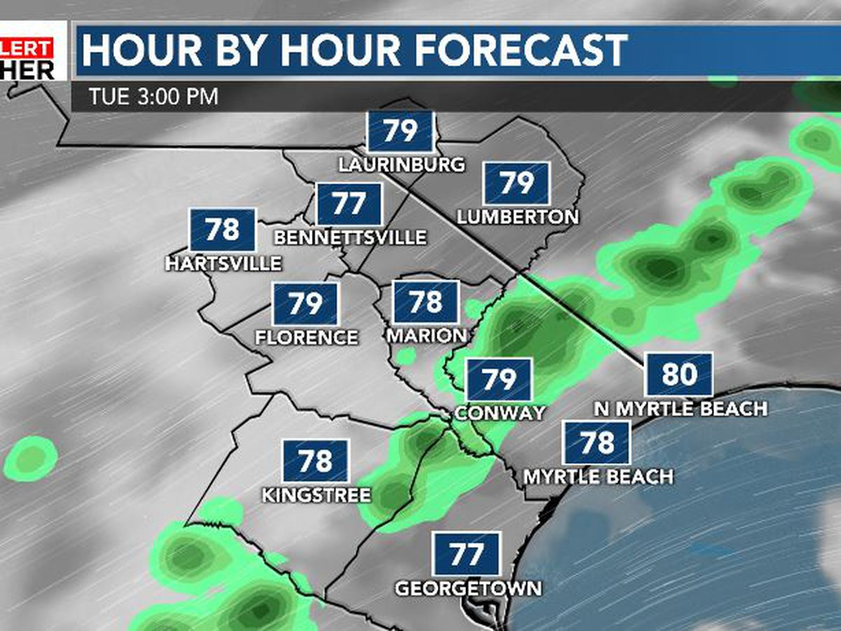 FIRST ALERT: Warmer, more humid and a shower or two