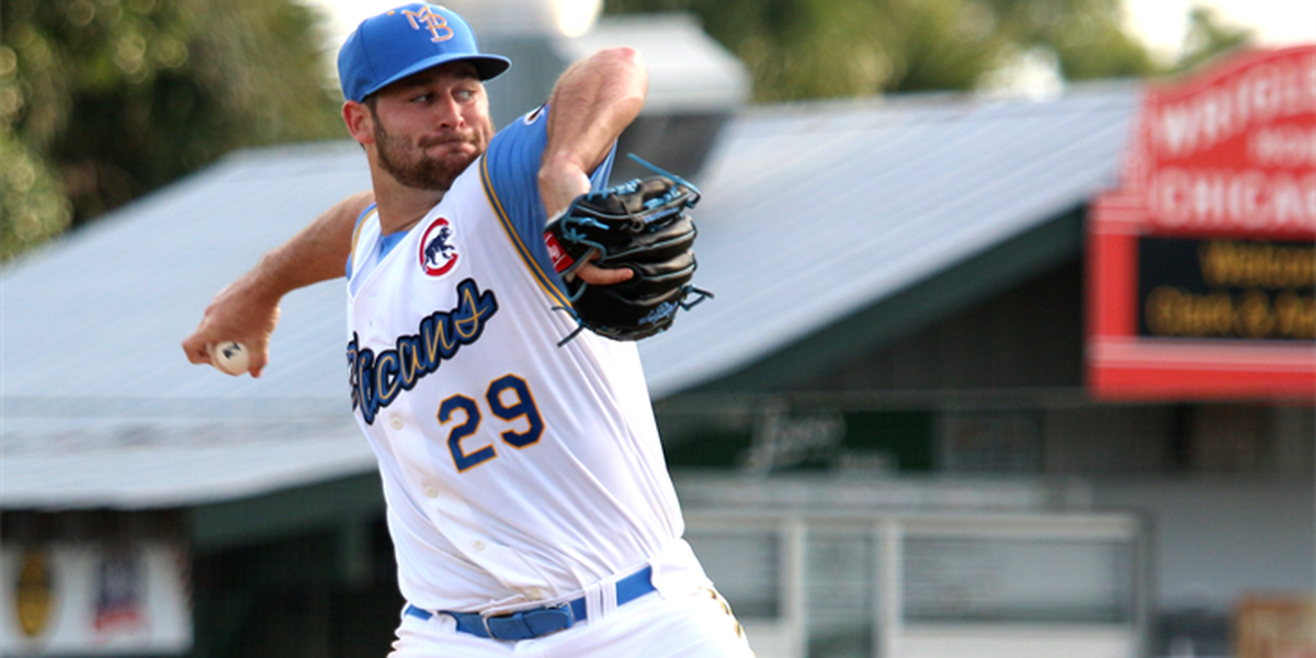 Pelicans pitcher named Chicago Cubs' Minor League Pitcher of the Month