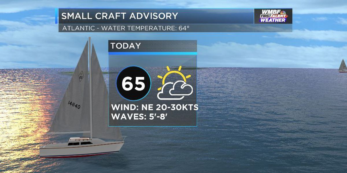Windy conditions may cause beach erosion this afternoon