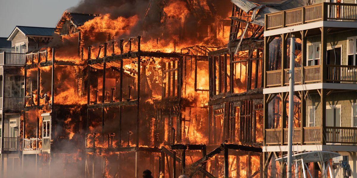 No injuries reported after massive Surf City fire