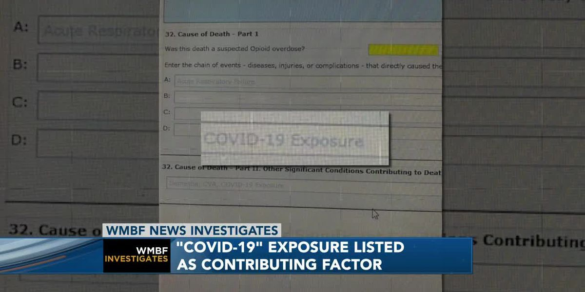 """Grand Strand family frustrated after mother's death certificate amended to say """"COVID-19 exposure"""""""