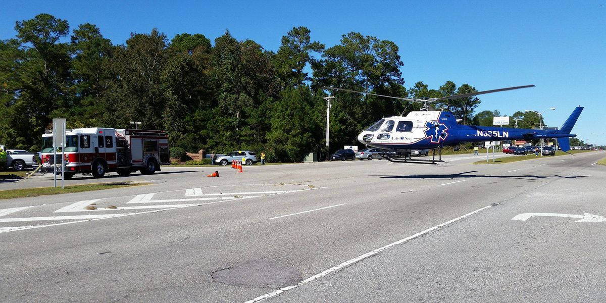 2 medical helicopters respond to accident near state line