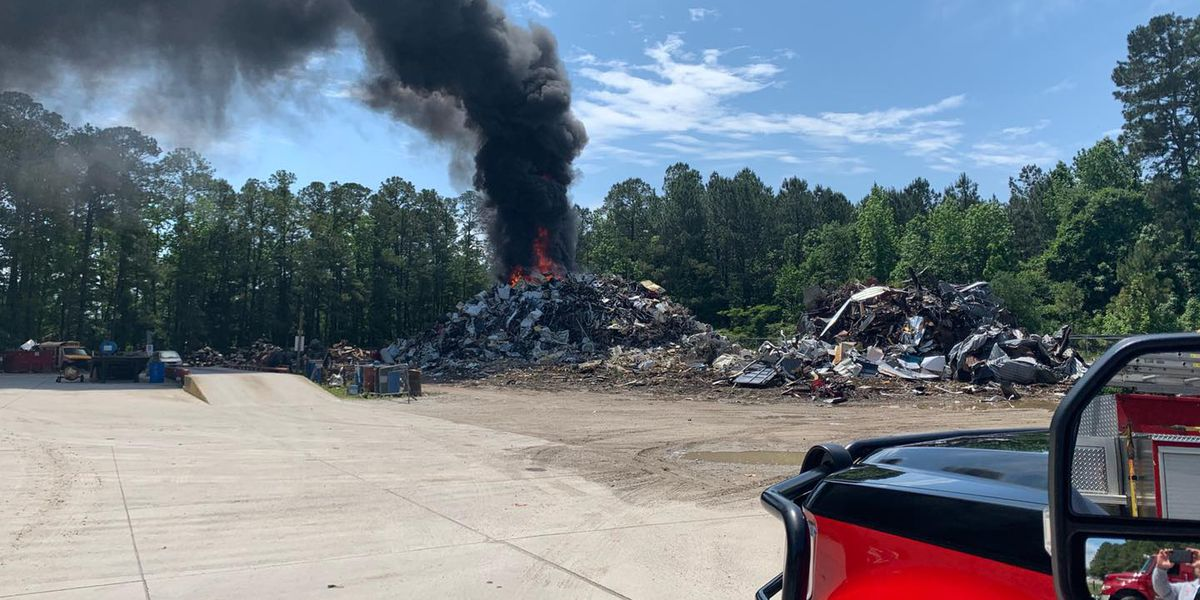 HCFR: Two-alarm scrap metal fire under control in Little River; Highway 57 still closed
