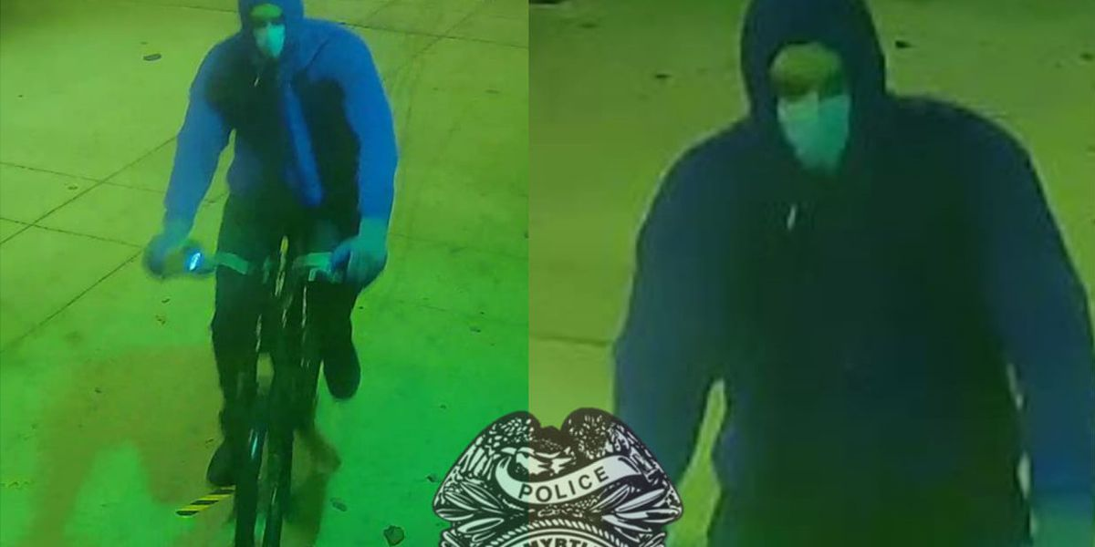 Authorities search for suspect in vandalizing of buildings, including Myrtle Beach Police Department