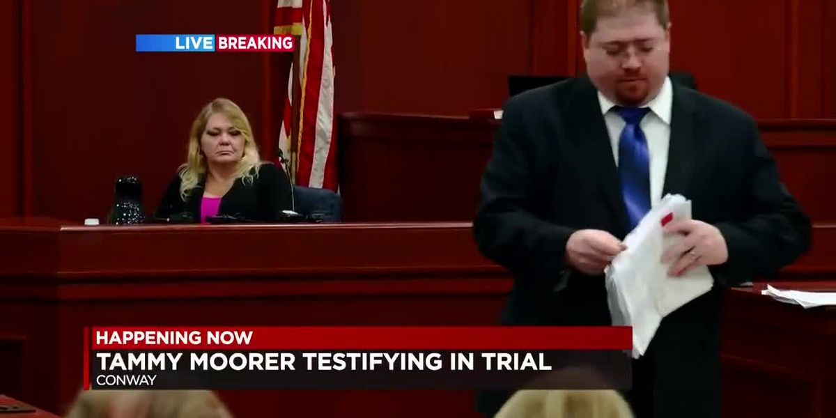 Tammy Moorer takes the stand in her own defense