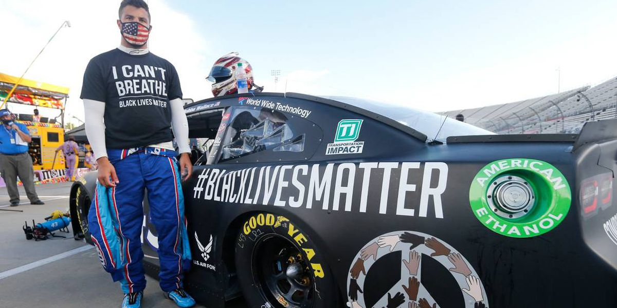 Bubba Wallace says racing NASCAR's final regular-season event is not 'turning away from dark and evil acts'