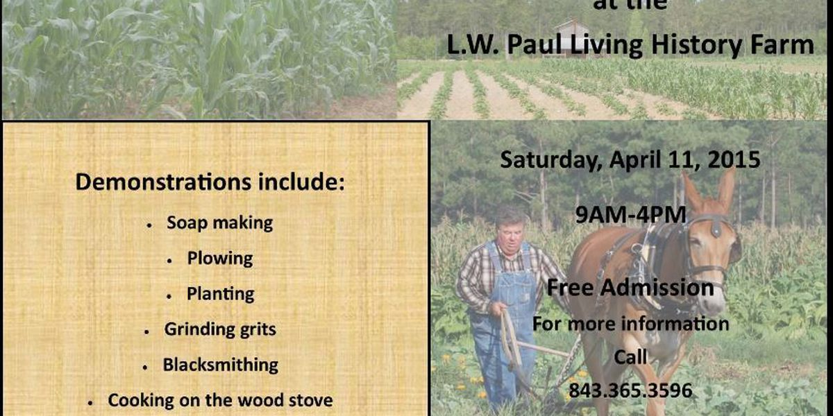 Annual spring planting day to be held April 11 at LW Paul Farm