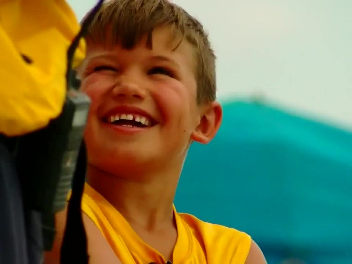 This is Carolina: Pint-sized lifeguard keeping campground beach safe for 'seven years'