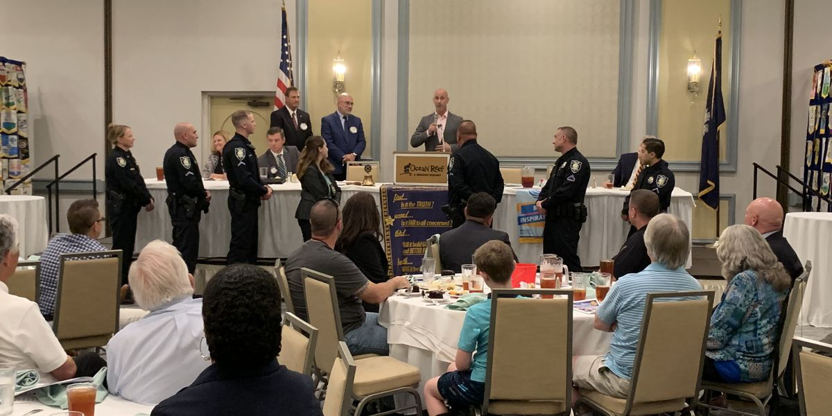 Rotary club honors Myrtle Beach Police Officer of the Year