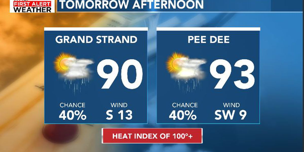 FIRST ALERT: Heat continues, rain through the end of the week