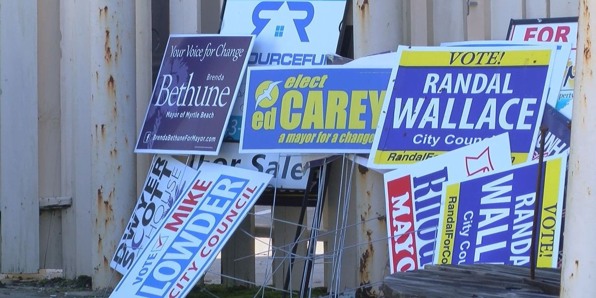 City of Myrtle Beach apologizes for removing political signs off private property