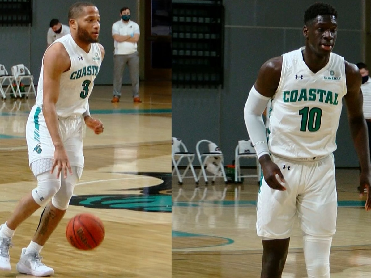 Double-doubles by Jones, Dibba lead CCU past Georgia Southern, 65-55