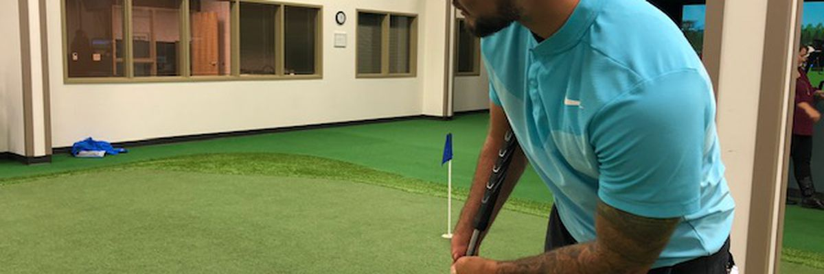 No hands, no problem: Adaptive golfer aims to inspire others