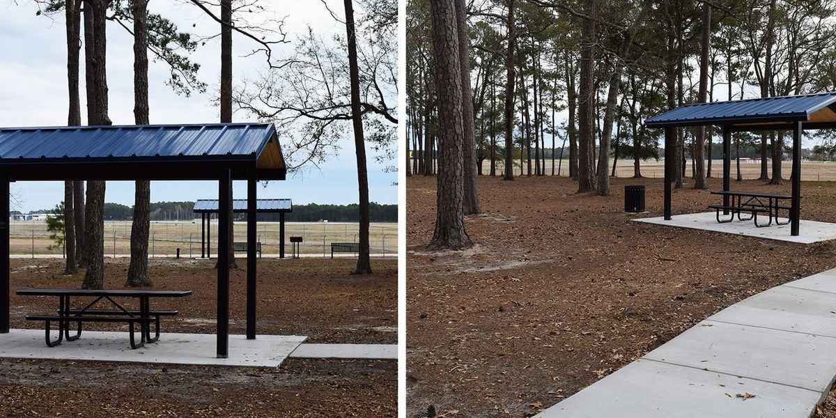 New picnic shelters ready for use at Myrtle Beach's Warbird Park