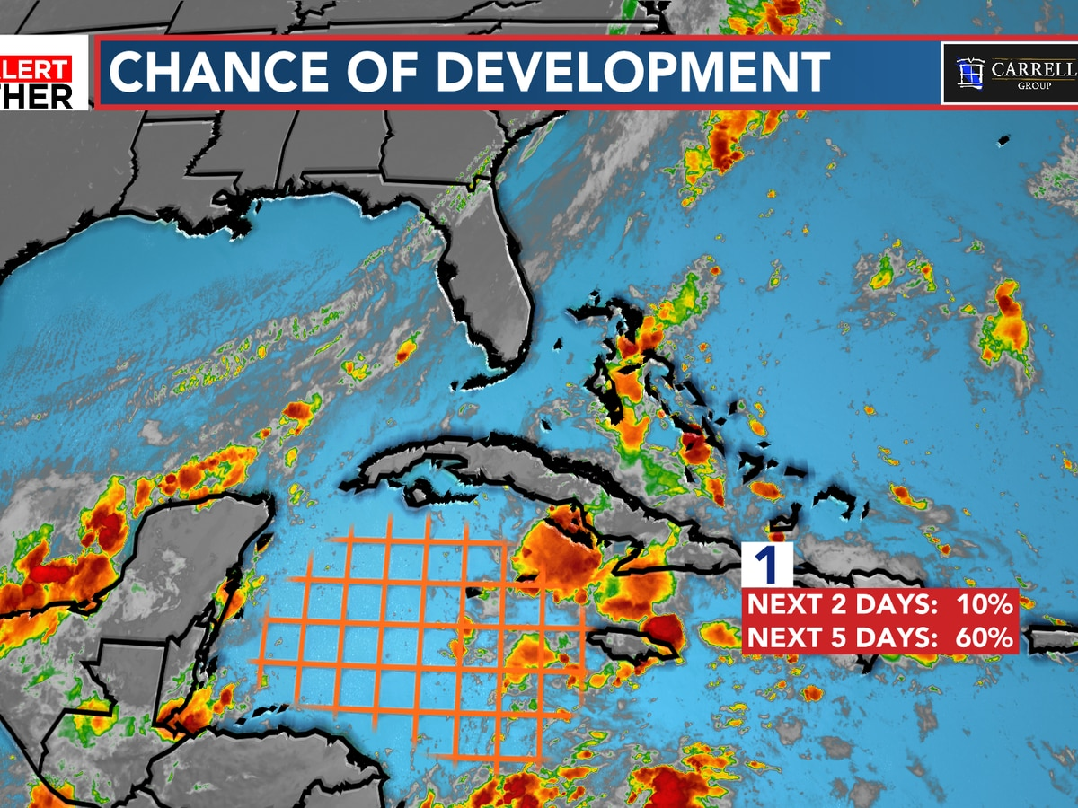 FIRST ALERT: Watching a chance of development in the Caribbean