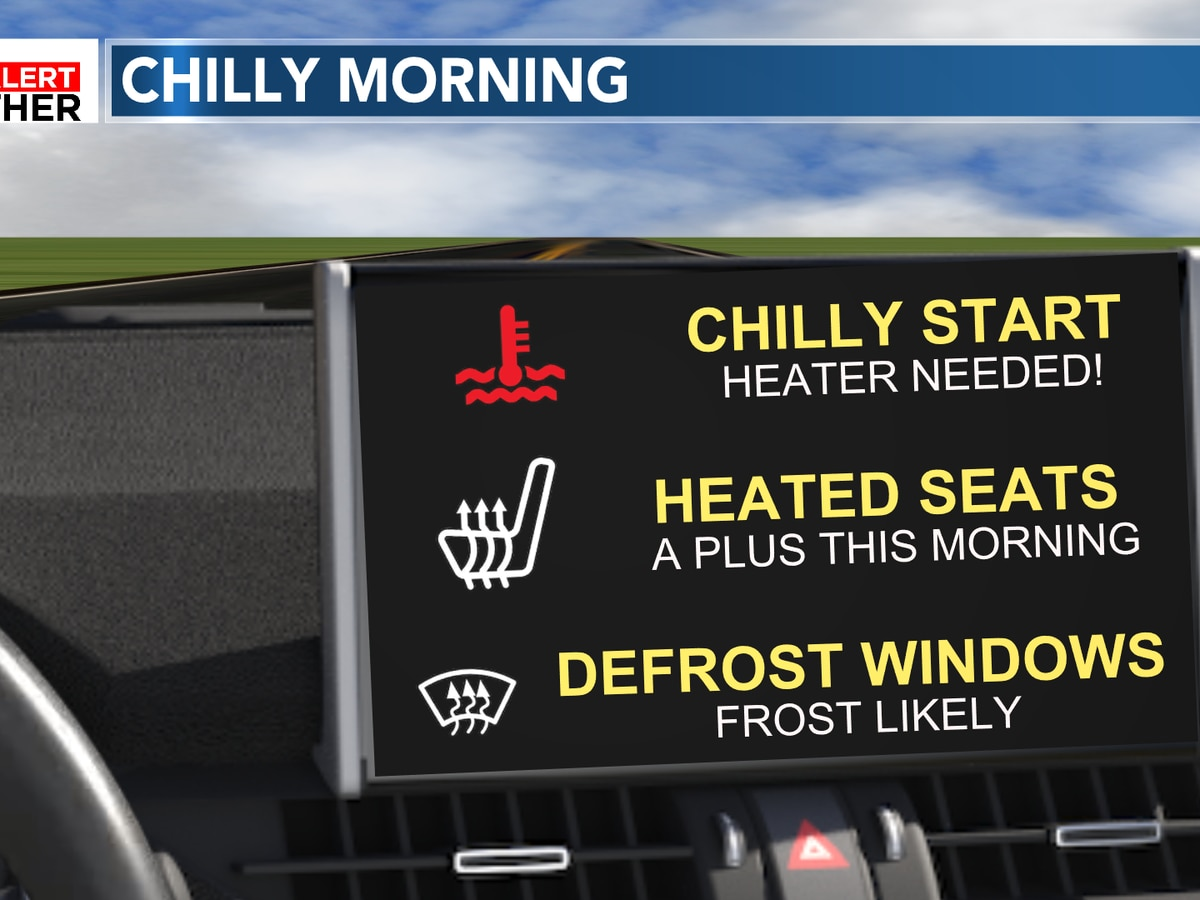 FIRST ALERT: Chilly & frosty morning, plenty of sunshine this week