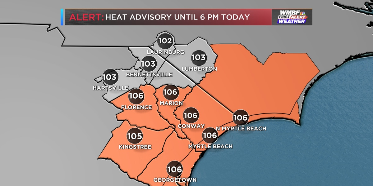 First Alert: Heat advisory issued, scattered storm chances continue