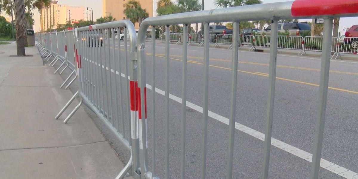Myrtle Beach council considering permanent barriers along Ocean Blvd.