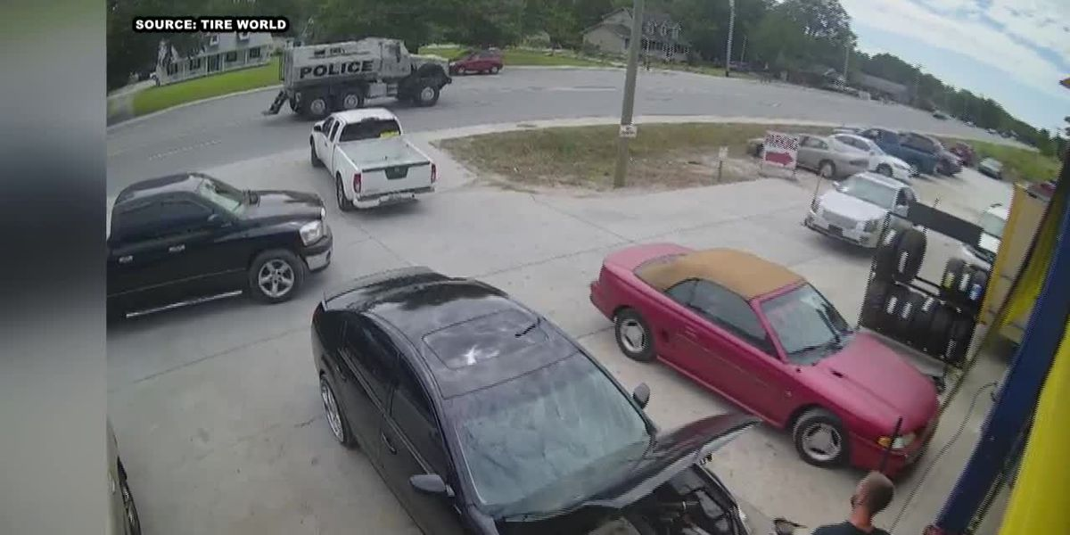 RAW: Security footage shows Horry police presence near S.C. 707