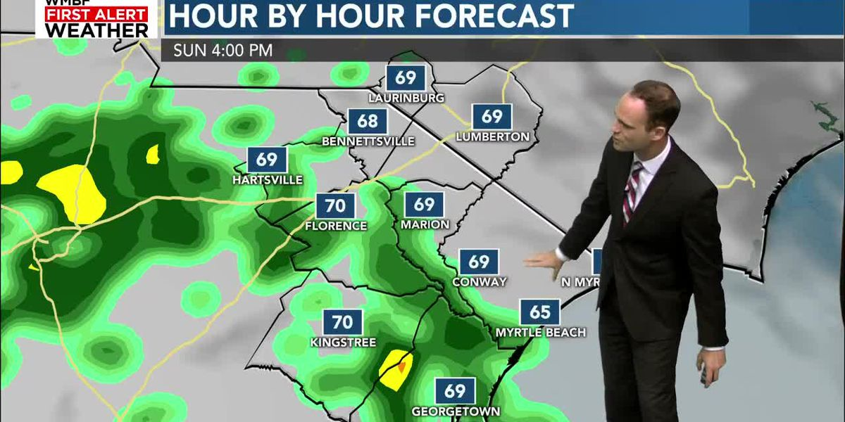 Weekend warmth continues, with shower chances Sunday