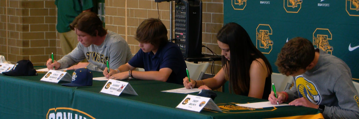Four Conway HS student-athletes sign to play college sports