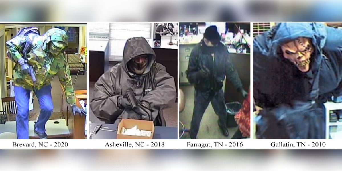 WANTED: 'Too Tall Bandit' responsible for at least 16 bank robberies from N.C. to Tenn., FBI says