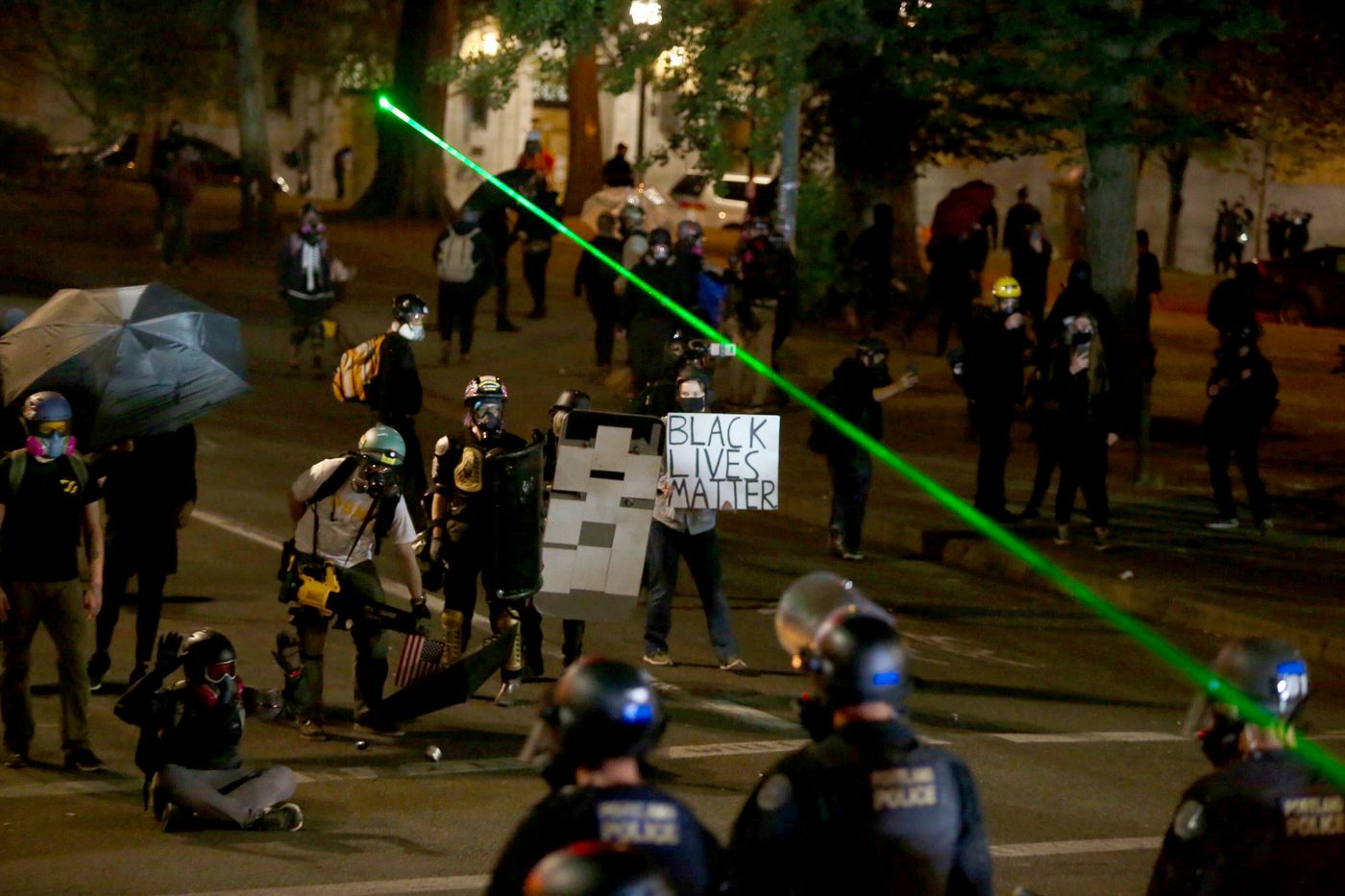 Portland police declare unlawful assembly amid protests