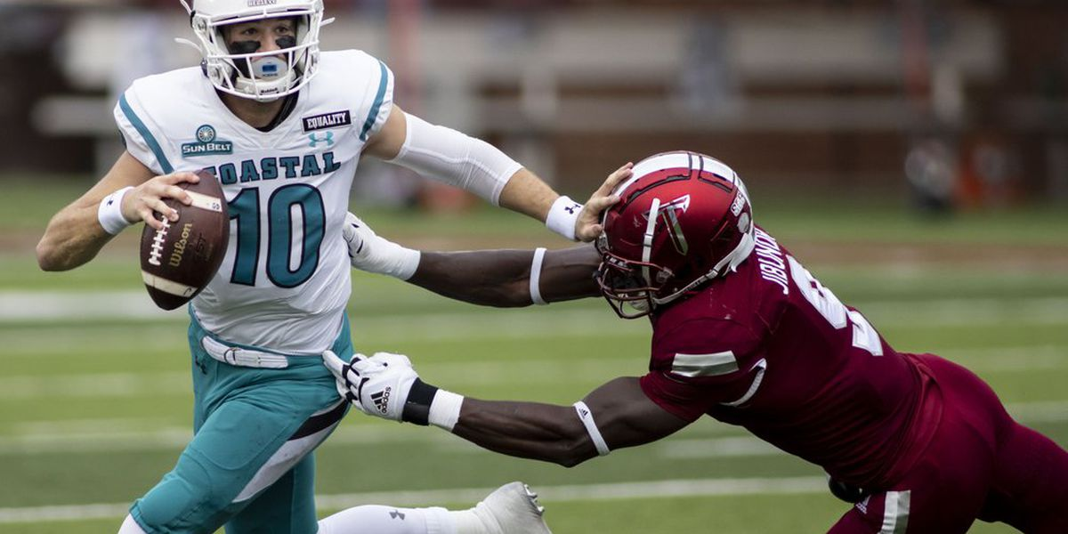 Coastal Carolina climbs to No. 9 in AP Poll, first-ever top-10 ranking