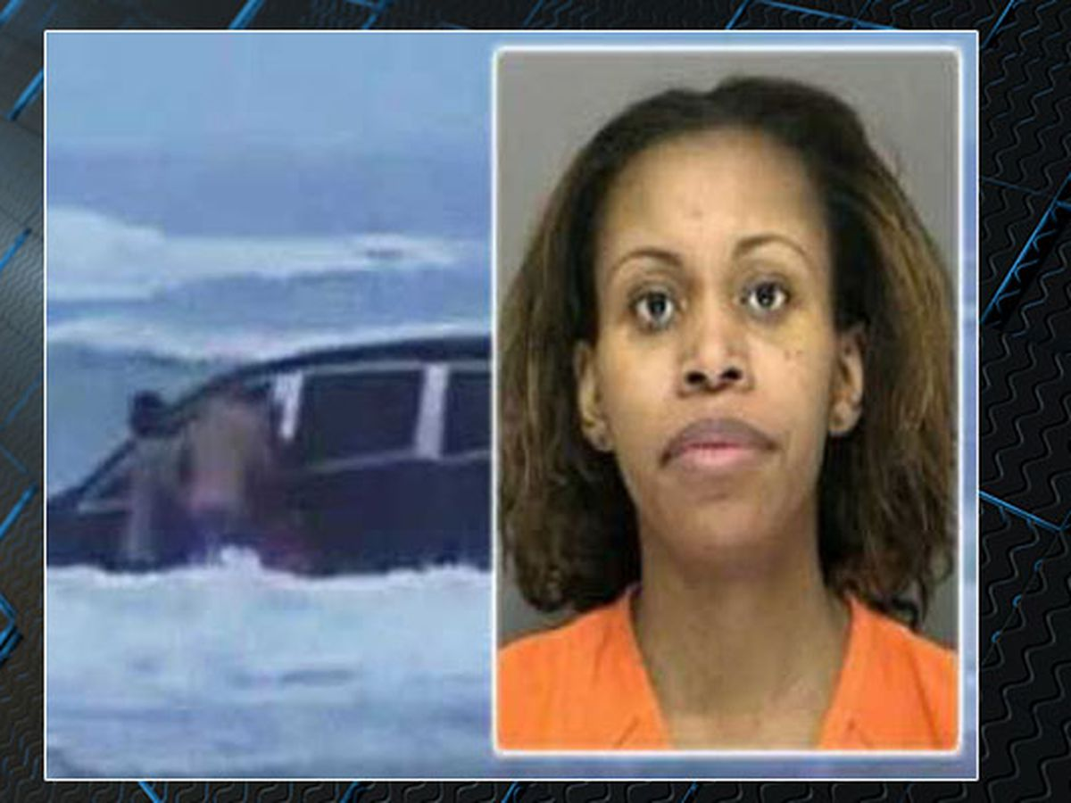 SC woman who drove minivan with children inside into ocean allowed to return home