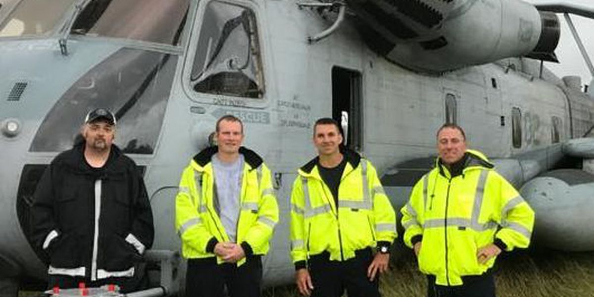 Horry County firefighters assist Marine helicopter after emergency landing