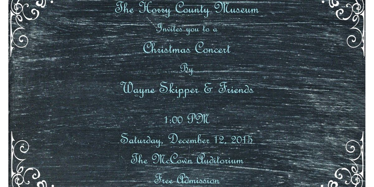 The Horry County Museum to host free Christmas Concert