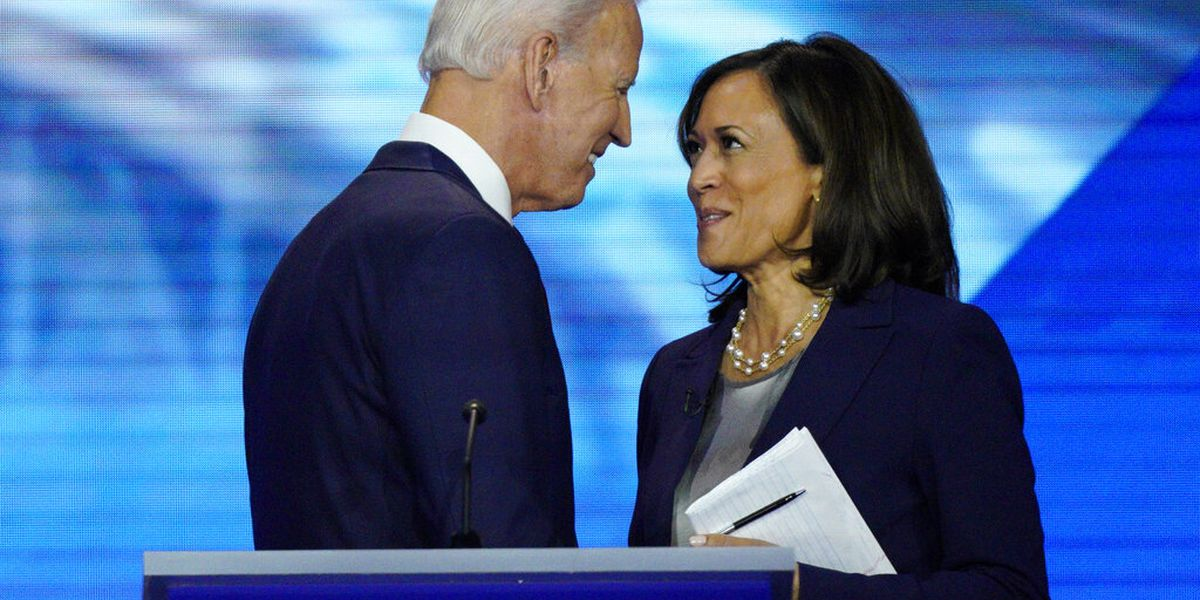 Biden introduces VP choice Harris; much history, no crowd