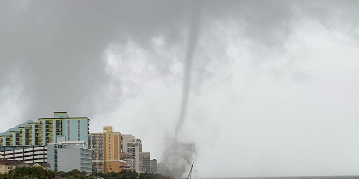 Apparent tornado touches down in Myrtle Beach