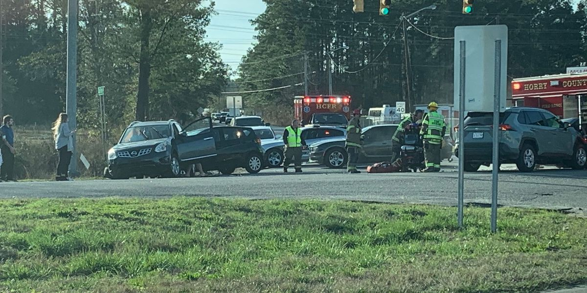 Traffic Alert: All lanes blocked after crash at U.S. 501 South, East Cox Ferry Road