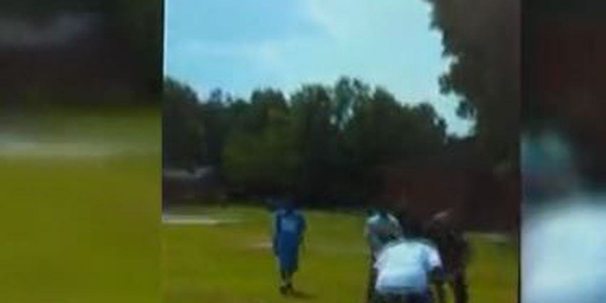 VIRAL VIDEO: Bennettsville officer plays football with kids