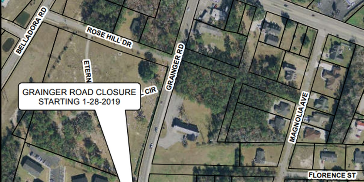 TRAFFIC ALERT: Portion of Grainger Road in Conway to close for drainage line replacement
