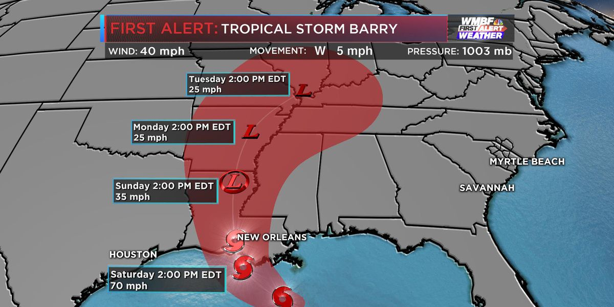 SC sending support team to Louisiana to help prepare for Tropical Storm Barry