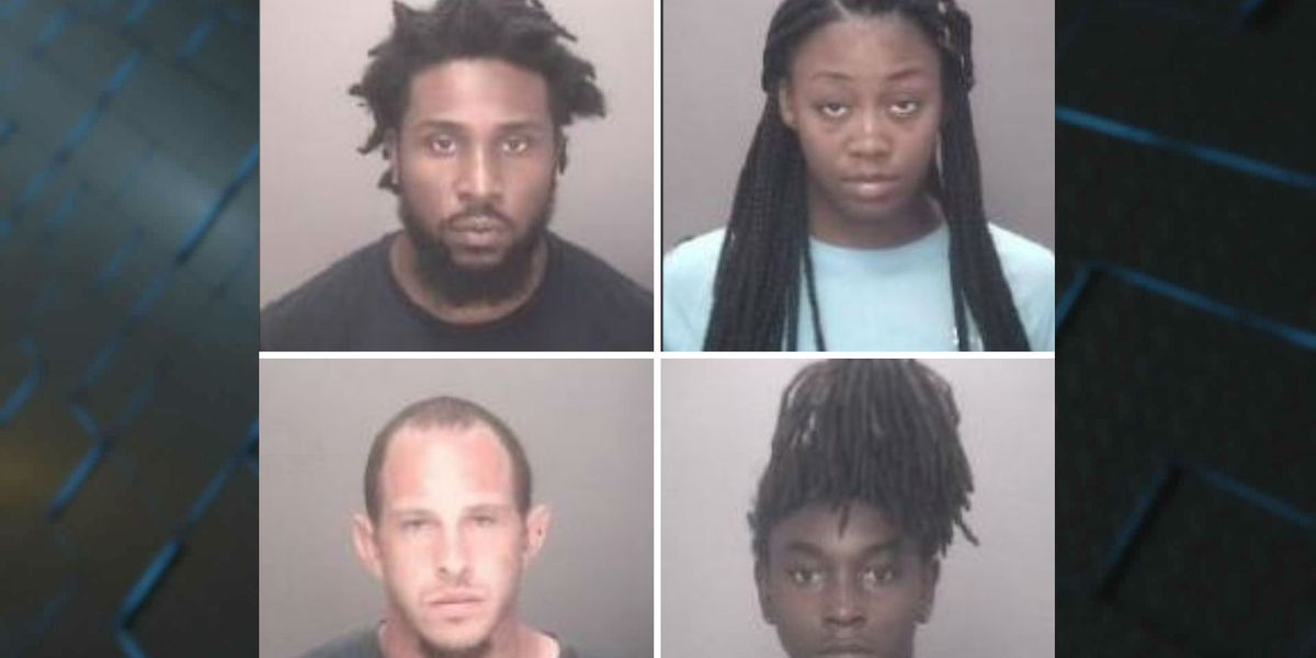 Police: Four charged after drug house searched for second time